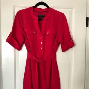 Cute red shirt dress